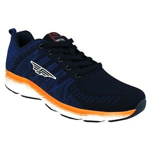 RSC0084 RED TAPE MENS MEMORY FOAM IN SOLE LACE UP PADDED COLLAR TRAINER SHOES