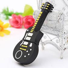 32GB Cute Black Guitar Style USB 2.0 Flash Stick Memory Pen Thumb Drive Storage