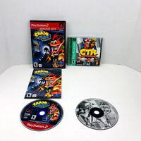 Crash Bandicoot The Wrath Of Cortex Crash Team Racing PS2 PS1 Lot Of 2