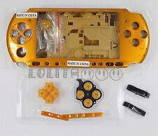 Golden Housing Faceplate Case Cover for PSP 3000 Slim ( Factory B )