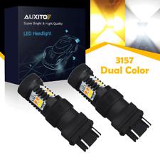 AUXITO 3157 LED Switchback 16K Dual Color White Yellow Turn Signal Lights US EDO