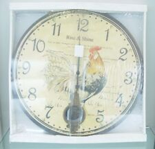 """Highland """"Rise & Shine """" Roster with a Pendulum Home decor Clock"""