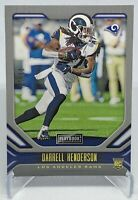 Darrell Henderson 2019 Panini Playbook #110 Gold Rookie RC Numbered /10 ( Rams )