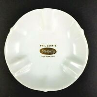 Phil Lehr's Steakery Vintage Ashtray San Francisco 1960s - 1970s White Ceramic