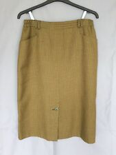 "Vintage Retro Canda C&A Pencil Skirt Mustard Brown Check Vintage Size 18 33"" W"