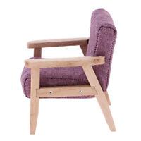 1:12 Miniature Purple Single Sofa Model Dollhouse Furniture Life Scene Decor