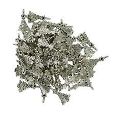 50x Tibetan Silver Star Christmas Xmas Tree Pendant Beads Jewelry Making DIY