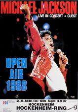 JACKSON, MICHAEL - 1988 - Konzertplakat - Concert - Tourposter - Hockenheim