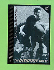 1995 NEW ZEALAND  ALL BLACKS RUGBY UNION CARD  #33  MAURICE  BROWNLIE