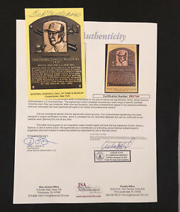 Ted Williams Signed Vintage HOF Plaque Postcard Autograph Boston Red Sox JSA LOA