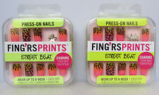 Press -On Nails Lot Of  2 Knotty Girl Wear Up To A Week ~ Easy Off!