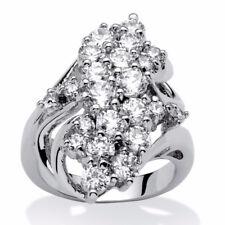 Dazzling 925 Sterlin Silver White Sapphire Gemstone Rings Wedding Women Jewelry