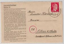 1944 Germany Dachau Concentration Camp KZ Letter Cover Ladislaw Komacek Bohemia