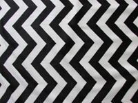 BLACK WHITE CHEVRON ZIGZAG STRIPE MINKY CUDDLE SEW CRAFT QUILT BABY FABRIC 30x36