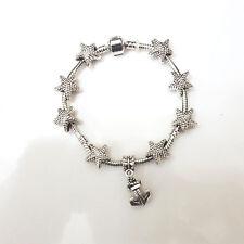 NEW Silver Starfish Murano Beads Charm Bracelet Masino Collection