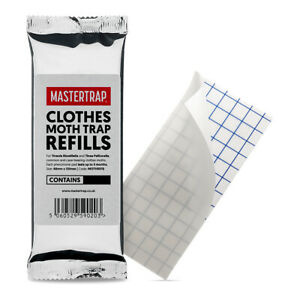 Moth Trap Pheromone Refill Pads for Clothes Moths Killer Monitor By Mastertrap