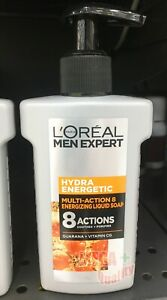 LOREAL MEN EXPERT HYDRA ENERGETIC MULTI ACTION 8 SERUM FOAM Whithening 150 ml.