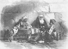 TURKEY. A Turkish Scribe, Istanbul, antique print, 1853