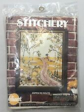 Vtg 70s Valiant Stitchery Kit Aspen Rd Route Needlepoint Crewel Wool Yarn USA