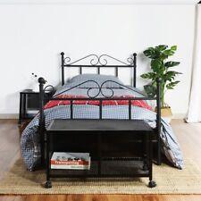 Bed Frame Metal Single//Double Size-3ft,4ft6 Modern Bedframe Solid Bedstead Base