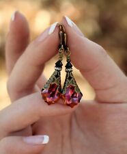 Vintage Crystal Earrings Dangle for Women and Holiday Gifts