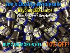 New listing (7)Bayonet Led Lamps/6.3V/Cool Blue-Receiver Model 22 Twenty-Two Front Dial/Ba9S