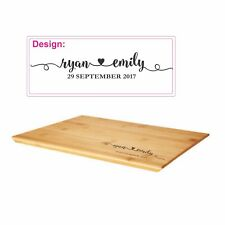 Unique Industrial rustic look Personalised wooden Family cutting cheese board