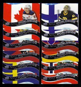 2020-21 Upper Deck NHL Worldwide LOT x12 McDavid Fleury Rask Terravaienen Hertl
