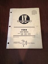 FORD I&T TRACTOR SHOP SERVICE REPAIR MANUAL BOOK 8000 9700 900 8700 TW 20 30 10