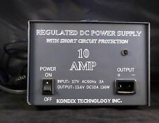 New Lower Price!  Kondix Technologies Regulated DC Power Supply 110AC To 12VDC