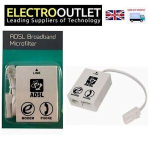 BT Sky Broadband Phone Modem ADSL Microfilter RJ11 Certified Maplin 9cm Fly Lead