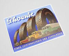 Reklame Ansichtskarte Phoenix Reifen 30ger Jahre