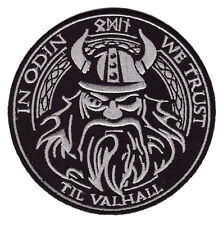 IN ODIN WE TRUST VIKINGS VALHALLA MAD MAX B/S  MORALE HOOK PATCH