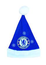 Official CHELSEA FC Novelty Hat Mens Adult gift Football Christmas santa womens
