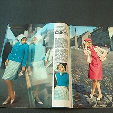 Vogue burda las modas 8/1963 - 2 patrones de corte-BG 50er 60er años Mad Man