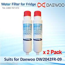 2x Daewoo DW2042FR-09 Premium Compatible Fridge Water Filter DW2042F-09 DW2042FR