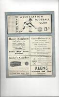 Watford v Walsall Football Programme 1947/48