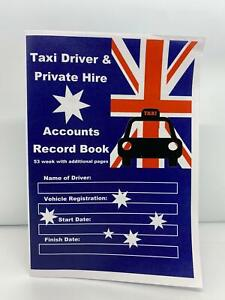 TAXI DRIVER / PRIVATE HIRE ACCOUNT RECORD BOOK 53 WEEK AUSTRALIAN FLAG
