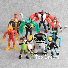 9pcs Ben 10 Action Figure Toys PVC Model Doll with Lighting 12cm Kids Gift