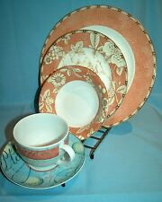 Collectors/Shop Wire Plate/Bowl/Cup/Saucer 5 Piece Display Stands Gold - New