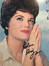 CONNIE FRANCIS Signed Autograph LP ALBUM PSA PSA/DNA COA