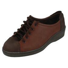Mujer Country Steps de Equity MARRÓN LEATHER Zapatos Con Cordones JACKY TALLA UK