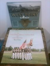 "Vtg 50's 60's Lot 2 West Point Military Vinyl Records 10"" & 12"" Original Sleeves"