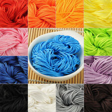 10m Chinese Knot Satin Nylon Braided Cord Macrame Beading Rattail Cords 1.5mm E