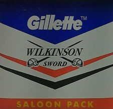 Pack of 50 Gillette Wilkinson Sword Double Edge Safety Razor Shaving Blades