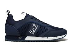 Emporio Armani X8X027 XK050 Mesh Mens Trainers Navy Gym Shoes Sneakers