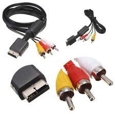 Cable Audio vidéo AV RCA TV Pour Sony Playstation 1 2 3 PS1 PS2 PS3 et Slim