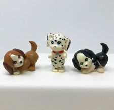 Vintage Littlest Pet Shop 3 Dogs Dalmatian & Brown Black & White Kenner 1992 LPS