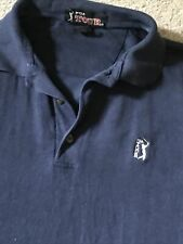PGA Pro Tour Golf Sports Navy Blue Men's XL Collared Polo Shirt Clothing Top