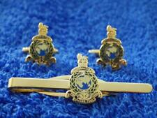 ROYAL MARINES ( RM ) CUFF LINK AND TIE GRIP / CLIP GIFT SET